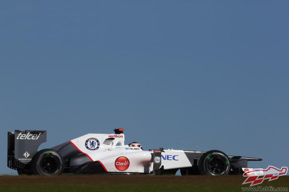 Kamui Kobayashi pilota el C31 en Austin