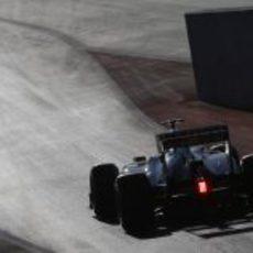 Sergio Pérez empuja su C31 en el Circuito de las Américas