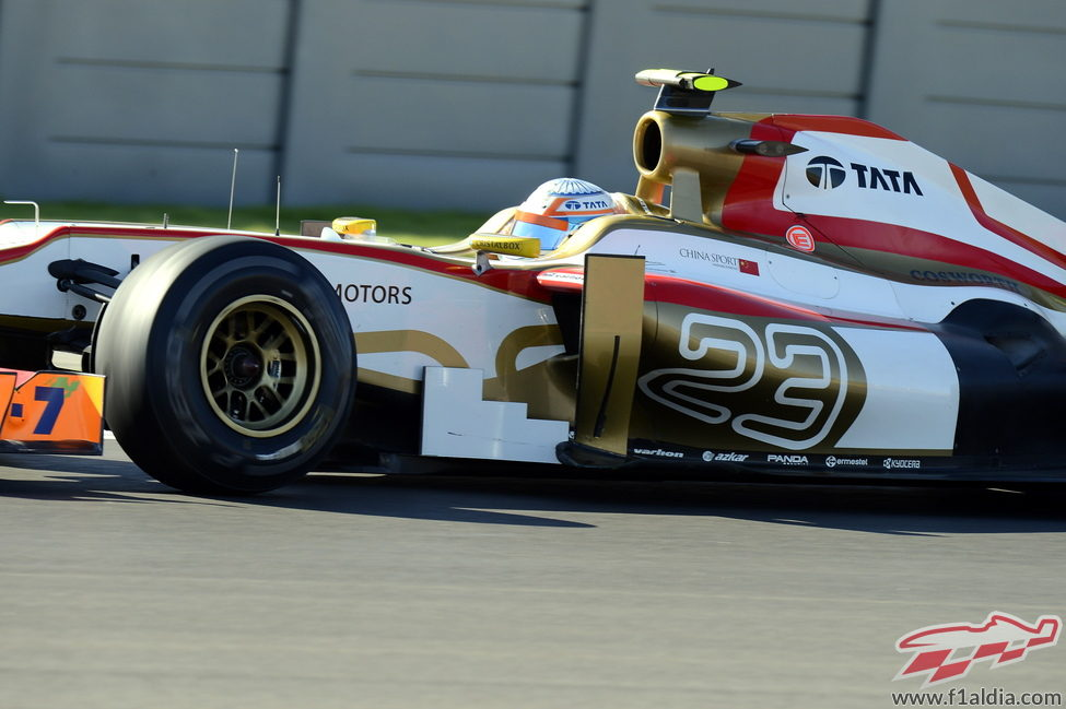 Narain Karthikeyan pilota en los Libres 1 del GP Estados Unidos 2012