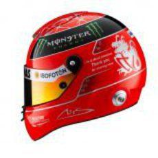 Casco de Michael Schumacher para el GP de Brasil 2012