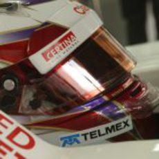 Kamui Kobayashi en el interior de su monoplaza en Brasil 2012