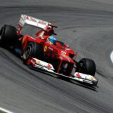 El F2012 de Fernando Alonso se mostró rápido en Interlagos