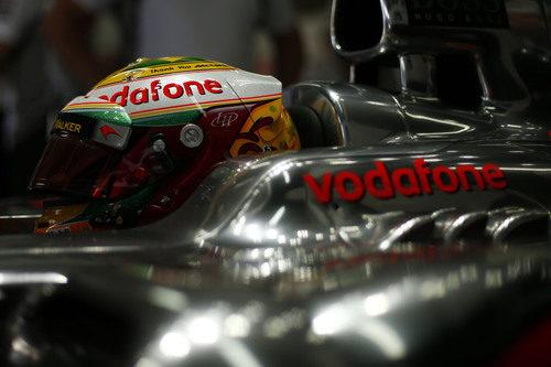 Nuevo casco de Lewis Hamilton para el fin de semana en Brasil