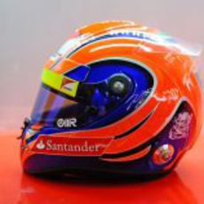 Casco de Felipe Massa para el GP de Brasil 2012