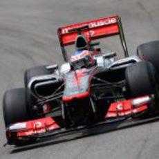 Jenson Button en los libres 3 del GP de Brasil 2012