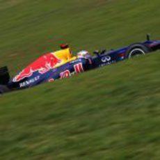 Sebastian Vettel en los libres 3 del GP de Brasil 2012