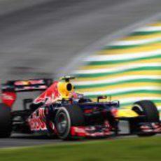 Mark Webber en los libres 3 del GP de Brasil 2012