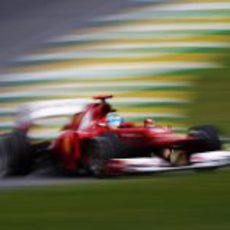 Fernando Alonso en la clasificación del GP de Brasil 2012