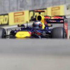 Sebastian Vettel en la clasificación del GP de Brasil 2012