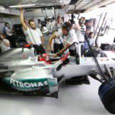 Michael Schumacher, preparado para su última clasificación