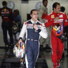 Pastor Maldonado tras finalizar la clasificación de Brasil 2012