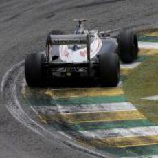 La trasera del Williams de Pastor Maldonado en Interlagos