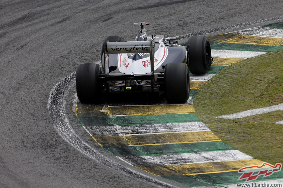 La trasera del Williams de Pastor Maldonado en Interlagos