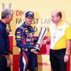 Sebastian Vettel gana el premio DHL de la temporada 2012