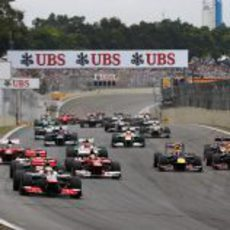 Salida del GP de Brasil 2012