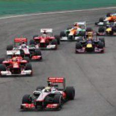 Primera curva del GP de Brasil 2012