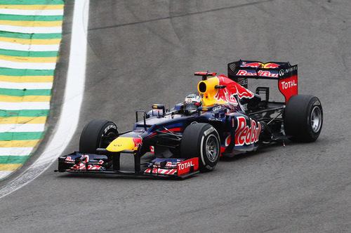 Sebastian Vettel en el GP de Brasil 2012