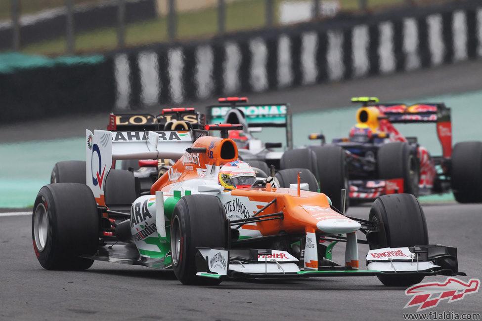 Paul di Resta abandonó en la última vuelta el GP de Brasil 2012