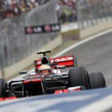 Lewis Hamilton logró su séptima pole del año en Brasil