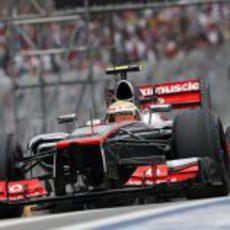 Lewis Hamilton voló en Interlagos durante la Q3