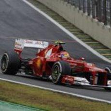 Felipe Massa se subió al podio en Brasil