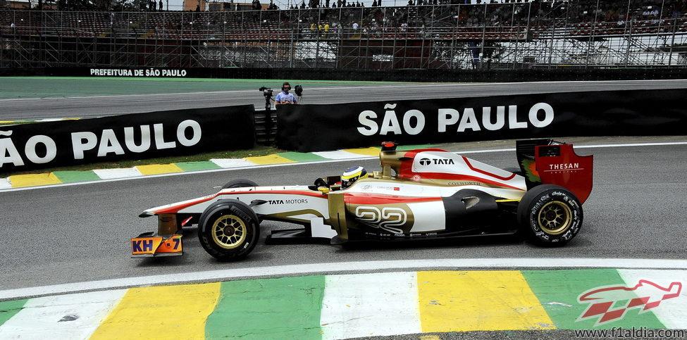 Pedro de la Rosa saldrá último en el GP de Brasil 2012