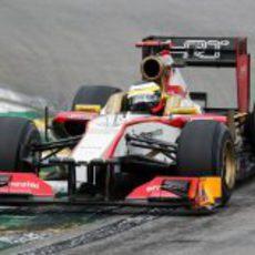 Pedro de la Rosa rueda en la Q1 en Interlagos