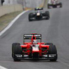 Timo Glock acarició la zona de puntos en Brasil