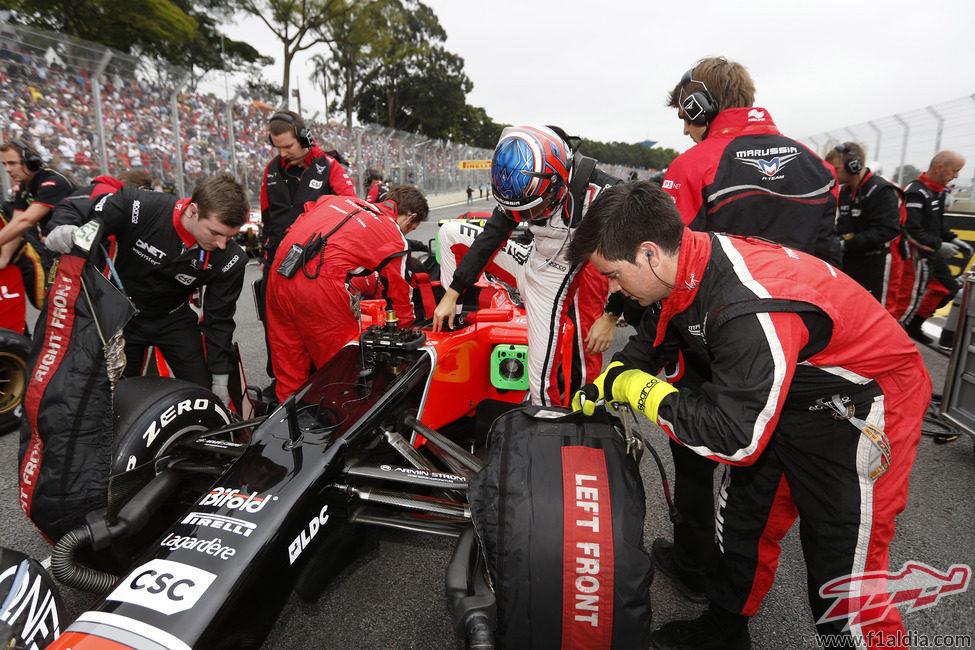 Charles Pic se prepara para afrontar el GP de Brasil 2012