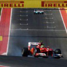 Felipe Massa se pasa de frenada en la clasificación del GP de Estados Unidos