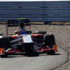 Narain Karthikeyan rueda en la Q1 de la clasificación