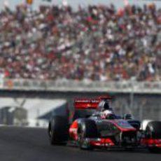 Jenson Button vio ganar a su compañero de equipo en Austin