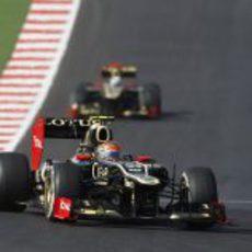 Romain Grosjean progresa durante el GP de Estados Unidos 2012