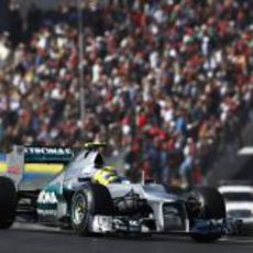 Nico Rosberg tuvo mal ritmo en el GP de Estados Unidos 2012