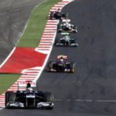 Pastor Maldonado completa otra vuelta del GP de Estados Unidos 2012