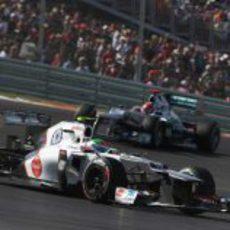 Sergio Pérez mantiene su posición con un Mercedes en Austin