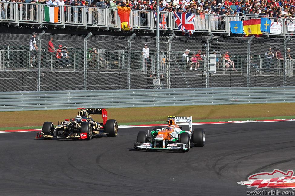 Nico Hülkenberg adelanta a Kimi Räikkönen en Austin