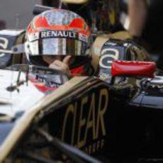 Romain Grosjean se prepara para un intenso viernes en Brasil
