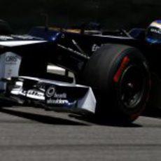 Valtteri Bottas rodó en los Libres 1 del GP de Brasil 2012