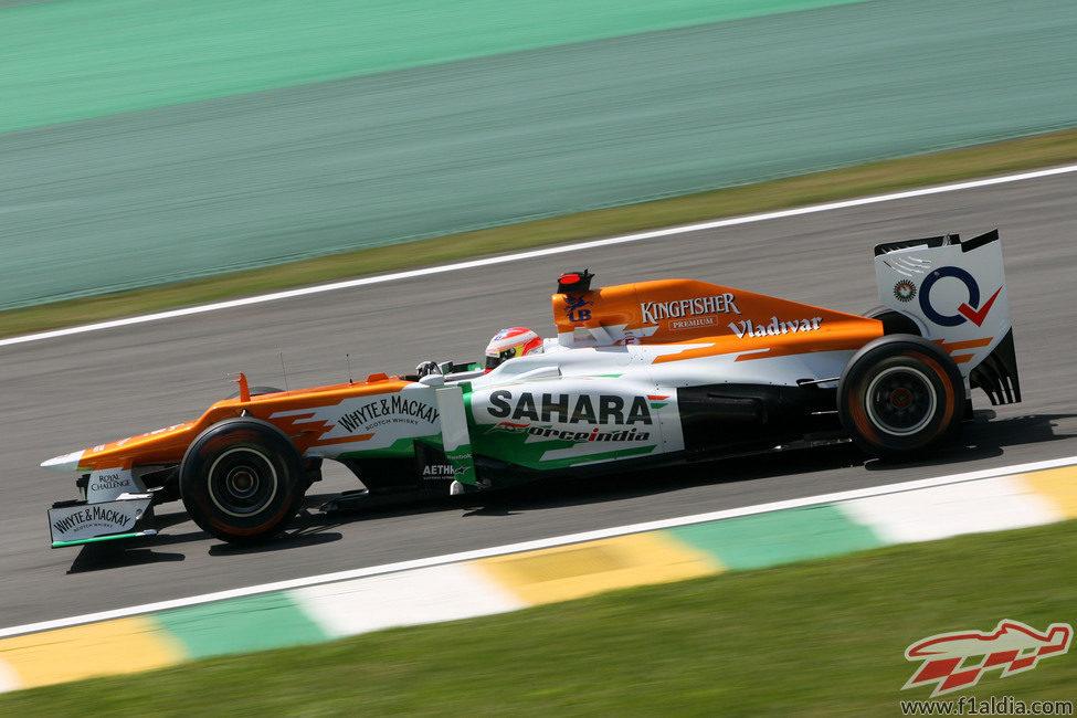 Paul di Resta prueba en Interlagos el ritmo del VJM05