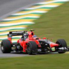 Charles Pic en la clasificación del GP de Brasil 2012