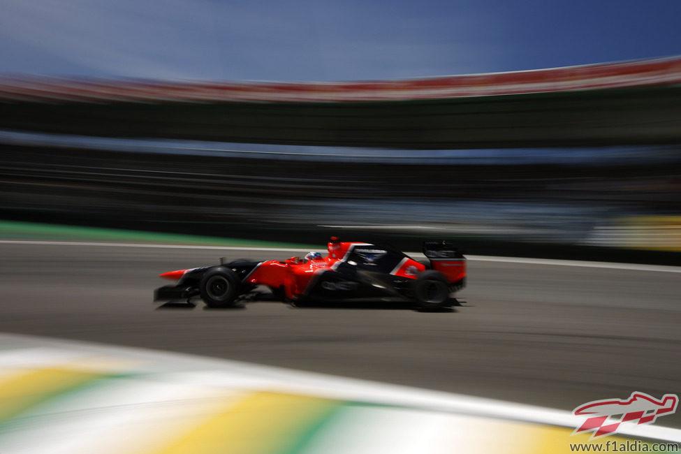 Timo Glock completa los entrenamientos en Brasil