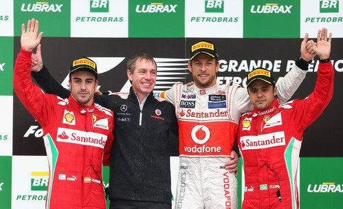 Podio del GP de Brasil 2012