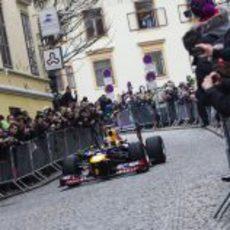 Mucha afición en Graz para ver a Vettel y su RB8