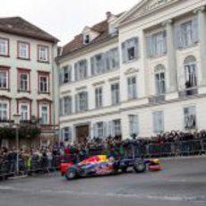 'Donuts' de Vettel en el centro de Graz