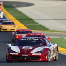 Los GT de Ferrari ruedan en el circuito de Cheste