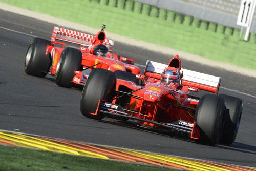 El modelo F1 número 196 de Ferrari en Cheste