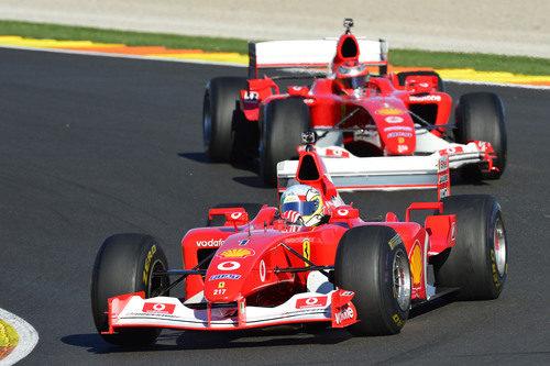 El modelo F1 número 217 de Ferrari en Cheste 2012