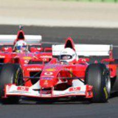 El modelo F1 número 222 de Ferrari en Cheste 2012
