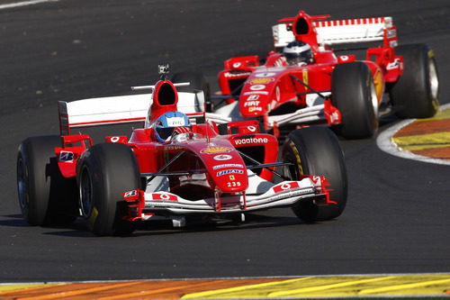 El modelo F1 número 235 de Ferrari en Cheste 2012